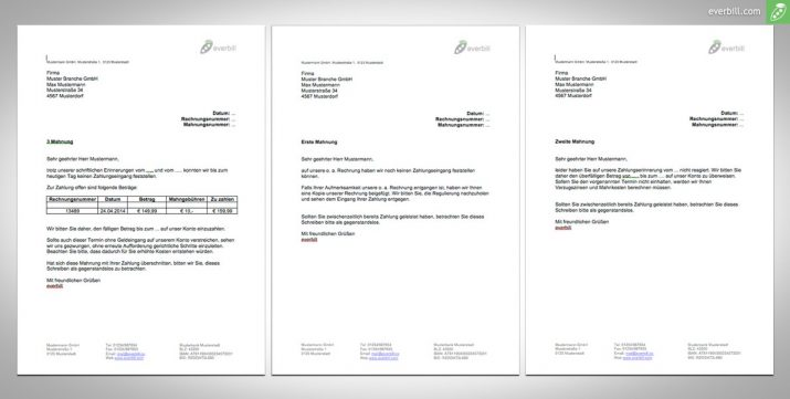 Wann Verjährt Eine Rechnung Vom Anwalt : mahnungen muster 4 dokumente zum download f r sie ~ Haus.voiturepedia.club Haus und Dekorationen