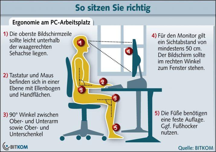 Richtig sitzen im Büro Lifehacks