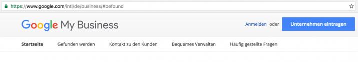 firma bei Google anmelden