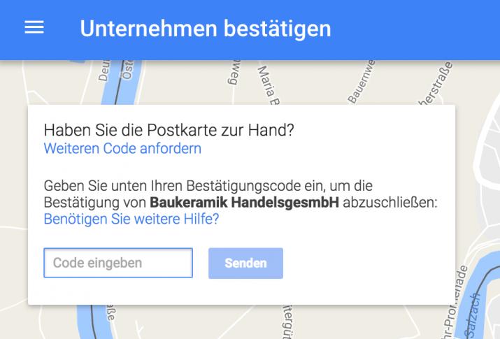 standort bestätigen google maps