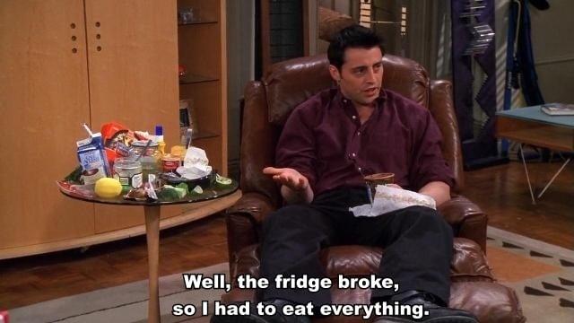 Joey broke fridge