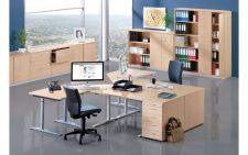 Schreibtisch office gestalten