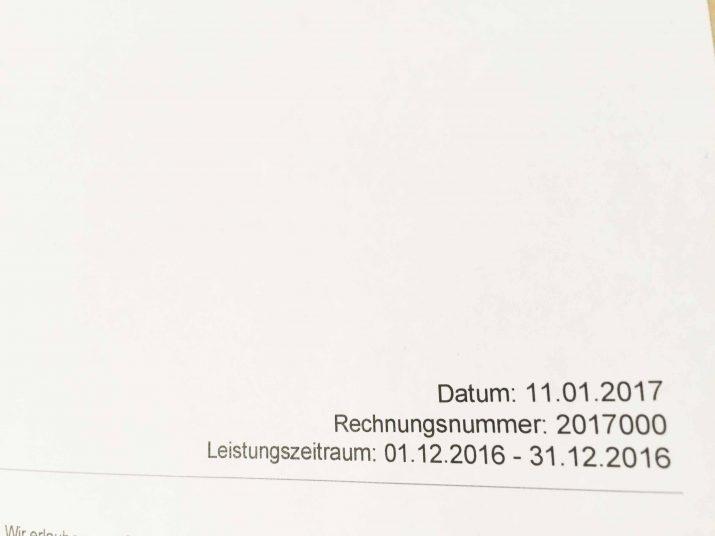 Übereinstimmung mit der Rechnungsnummer