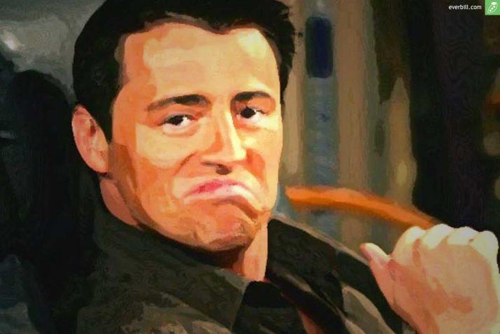joey tribbiani zitate painting