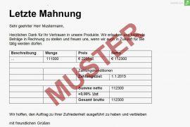 Muster Geschäftsdokumente Archiv Seite 3 Von 3 Rechnung
