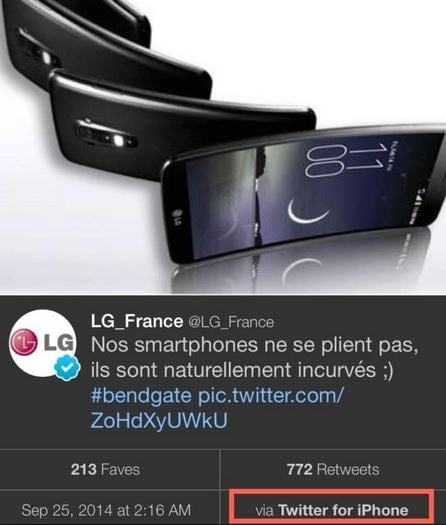 lg iphone bend