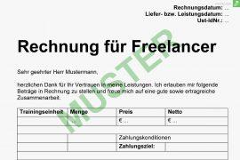 musterrechnung für freelancer titelbild