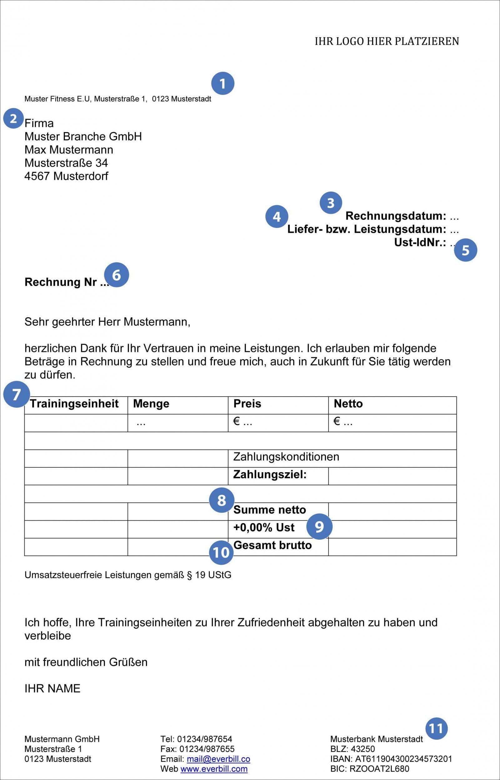Musterrechnung Rechnung Richtig Schreiben Das Online Magazin Für