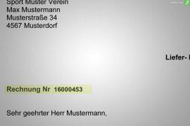 nummernkreis und rechnungsnummer auf rechnung