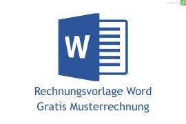 rechnungsvorlage word gratis
