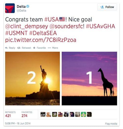 delta airlines social media fail
